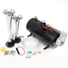 Double Trumpet Train Air Horn Kit Horn Modified Gas Pump Car Air Tank Compressor