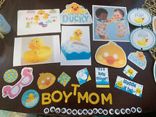 Huge Rubber Ducky Baby Shower Lot Plastic Tablecover 54 x 102 Baby Shower