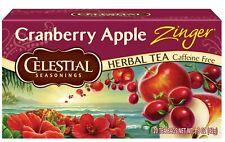 CELESTIAL SEASONINGS  HERBAL TEA CANBERRY APPLE ZINGER  20CT - PACK OF 4