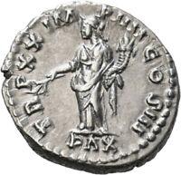 DIONYSOS Marcus Aurelius AR-Denar Rom Pax #LH 2197