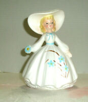 Vintage INARCO Lady Planter Wide Brim Hat Flowers on Dress
