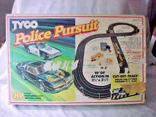 Vintage Tyco Racing Police Pursuit Slot Car Racing Set / Original Cars