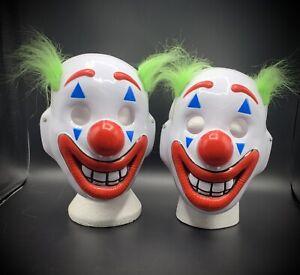 TWO Cosplay DC Movie Joker Arthur Fleck Mask Clown Protest Halloween Mask