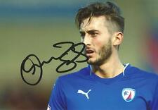CHESTERFIELD: OLLIE BANKS SIGNED 6x4 ACTION PHOTO+COA