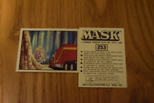 Mask Panini sticker 1986 ( M.A.S.K.  Kenner parker toys ) number 253
