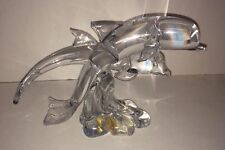 Hand Sculptures Art Glass Dolphins Great City Traders San Francisco 9� Vintage
