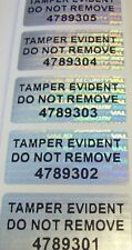 "100 SVAG Tamper Evident Do Not Remove Security Label Sticker Seals #'d .75""x1.5"""