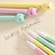 4pcs/set Kawaii Kitsch Cat Head Gel Pen Cartoon Korean Cute Pencil Gift Random