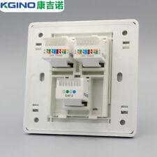 Wall Socket Plate Kgino 2 port CAT6 RJ45 & 1 port CAT3 RJ11 Panel Faceplate