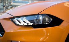 2018+ Mustang [HACG] Headlight Amber Corner Lens Blackout Vinyl - Gloss Black