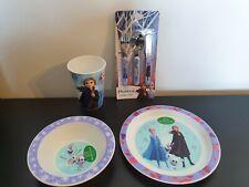 Disney Frozen 2 Christmas Plate Bowl Cup & Cutlery Childrens Kids 6pc Dinner Set