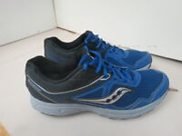 MENS SAUCONY GRID COHESION 10 BLUE BLACK GRAY RUNNING SHOES SIZE 11.5M A259