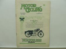 Aug 1951 Motorcycling Magazine Matchless Clubman Model G9 Ariel Triumph L9813