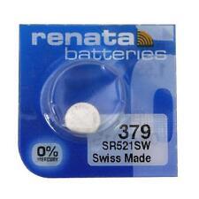 Renata 379 (SR521SW) Swiss Made Watch Battery Brand New