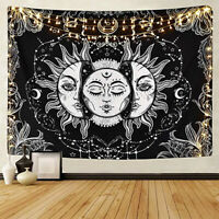 Bohemian Tapestry Sun and Moon Printed Wall Hanging Mat Wall Tapestry Decoration