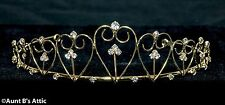 Tiara Gold Metal & Rhinestone Multi Heart Princess Queen Or Debutante Headpiece