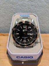 Casio 5373 Super Illuminator Mens Watch -Stainless Band - Day/Date 100M WR - NEW