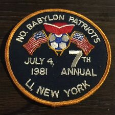 North Babylon Patriots 7th Annual July 4,1981 Tournament Soccer Patch LI NY