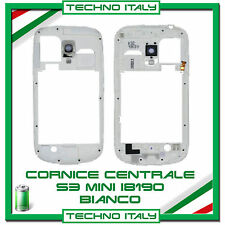 Cornice Middle Frame Samsung Galaxy S3 Mini i8190 BIANCO cover  FLAT telaio