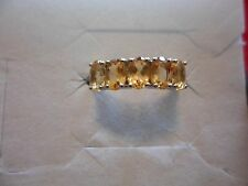Citrine 5-Stone Ring in 925 Sterling Silver-Size 7-2.06 Carats