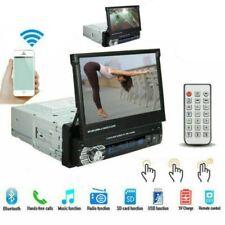 """Autoradio 1DIN 7 """"HD à écran tactile rétractable DVD MP5 SD FM USB Bluetooth"""