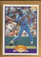 Bo Jackson 1989 SCORE Card # 330 Kansas City Royals Baseball MLB