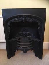 Antique Victorian Cast Iron Fireplace Insert Regency Hob Grate Style Black