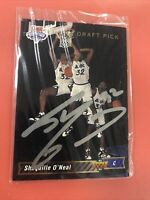 1992-93 Upper Deck SHAQUILLE O'NEAL Rookie Card Autographed Card #1 Draft Pick