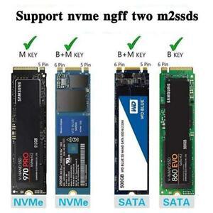 Externes USB-SSD-SSD-Gehäuse M.2 NVME PCIE SATA M / Mobile Case B-Schlüssel M4I1