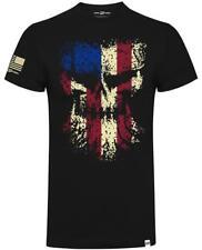 Diesel Power Gear Grunged Skull Flag Official Diesel Sellerz Black Men TShirt