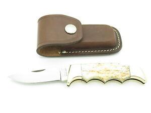Vtg Kershaw by Kai 1040 Seki Japan Bone Folding Field II Hunter Lockback Knife
