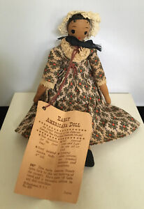 Vintage Shackman Early Americana Wood Doll Peg Doll Jointed