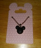 Disney  Necklace Black Mickey Mouse  Icon Jewelry Theme Parks New