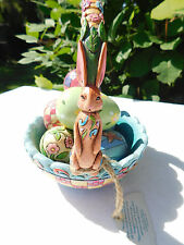 "Jim Shore ""Hunting Eggs, Finding Joy"" Easter Basket & Eggs Figurine 4007945"