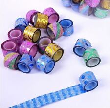 90Roll / Can Assorted Color 1.8cm x 1meter Glitter Sticky Tape DIY Scrapbook