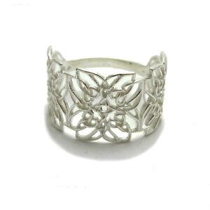Genuine filigree sterling silver Celtic ring solid 925 R001777 Empress