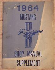 1964 Ford Mustang Service Shop Repair Manual Supplement Jim Osborn Reproduction