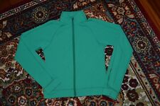 LULULEMON SHAPE FORME CROP FULL ZIP JACKET GREEN SMALL SLEEVE POCKET SZ -6/S