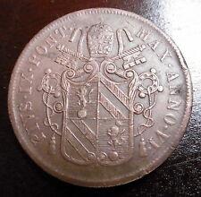 ITALIE - États Pontificaux - 5 BAIOCCHI 1852 B AN. VI - PIUS IX