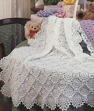 Beautiful Babies Crochet Shawl/Afghan Pattern with scalloped edges 706