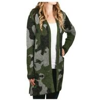 MODER CANVAS WOMEN'S LONG CARDIGAN Sweater Color: CAMO Size S