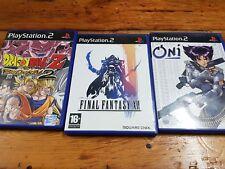 PS2 lotes de juegazos completos Final Fantasy XII Dragon Ball Z Budokai 2 oni