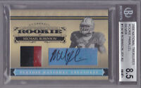 2006 National Treasures RC Auto Patch Silver 134 Michael Robinson #22/49 BGS 8.5