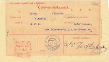 Slowenien, SHS, Jugoslawien, ZAHLUNGSANWEISUNG Železnike, 1920