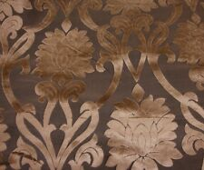 "upholstery Velvet Raised Cut Bronze Damask Beaumont 333 Drapery fabric 56"" wide"