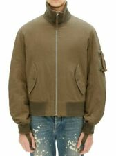 HELMUT LANG High Collar Bomber jacket army green NEW size L $620
