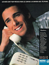 PUBLICITE ADVERTISING 025  1985  MATRA  téléphone  DECLIC