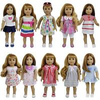 "8Sets for Girl Baby Doll Clothes Dress Skirt 14""-16"" and 18 inch Dolls Handmade"