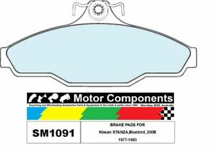 BRAKE PADS SM1091 TO SUIT Nissan STANZA,Bluebird, 200B 1977-1993
