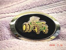 John Deere Tractor belt buckle, black resin, new